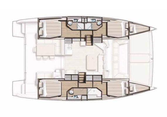 Plano del catamarán Bali 4.5