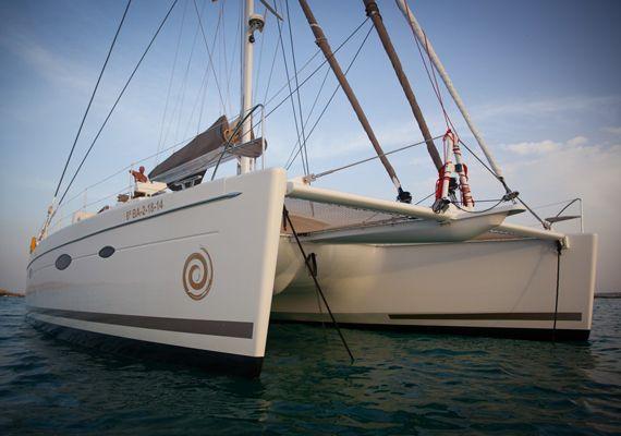 El catamarán Victoria Maestro en Baleares